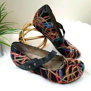 OTBT | 9 Salem Mary Jane colorful yarn wedge clog